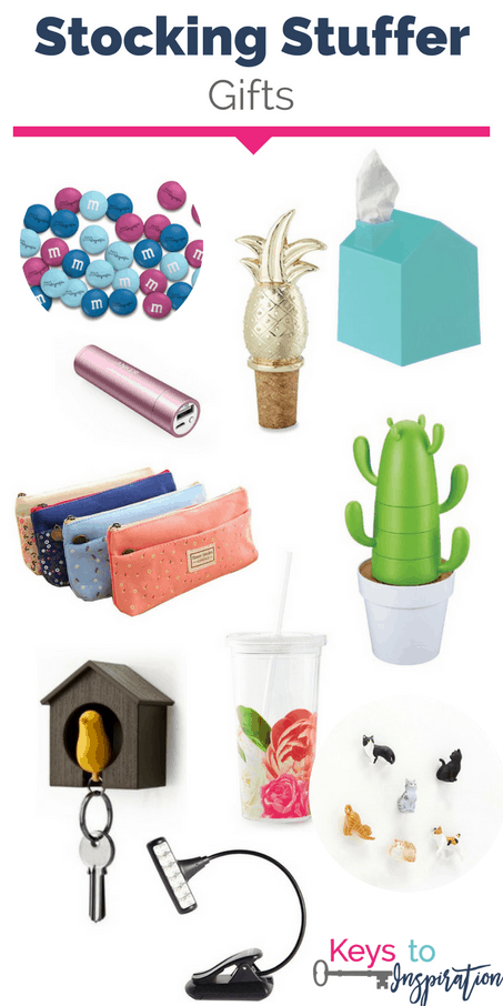 Stocking Stuffer gift ideas. Great ideas for Christmas stockings. So many unique finds!