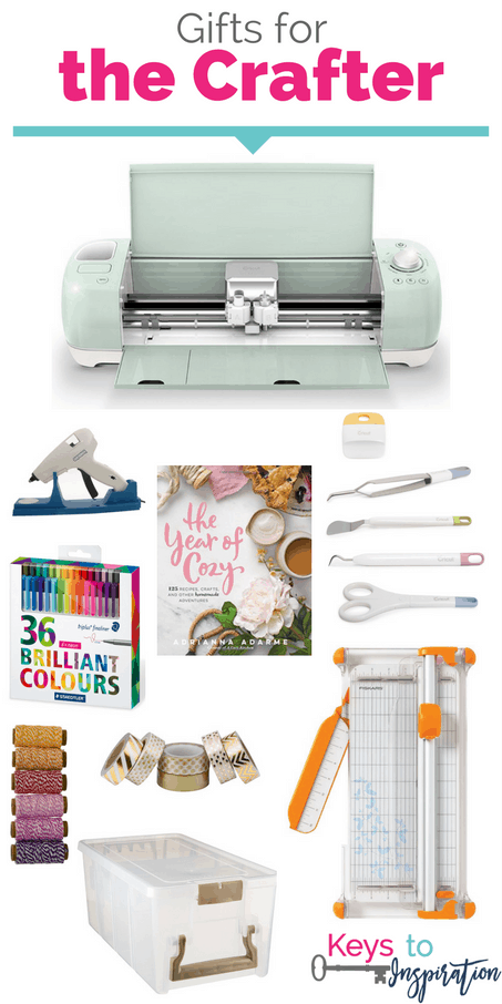 Gift ideas for the crafter. So many ideas for the creative person in your life. The Cricut Explore is the ultimate crafting gift. These would make great Christmas gifts!