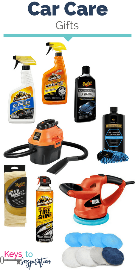 Gift ideas for car care. So many ideas for the car guy in your life. These would make great Christmas gifts!