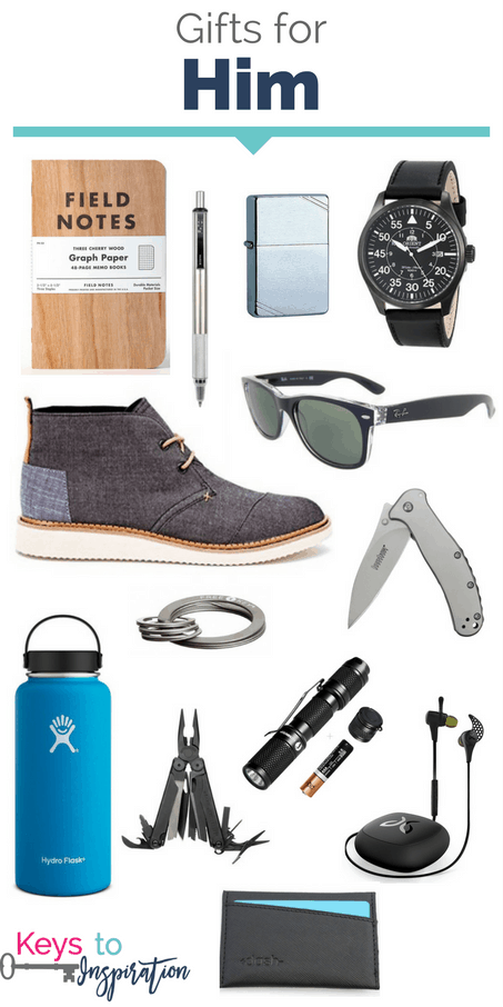 Gift ideas for him. So many great items for men. These would make great Christmas gifts!