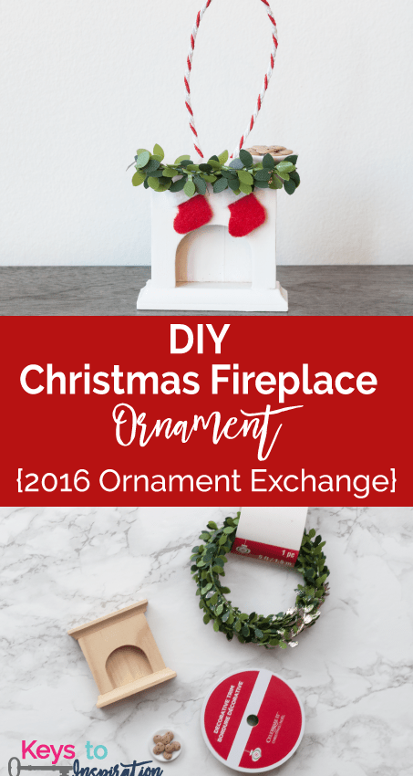 DIY Christmas Fireplace Ornament {2016 Ornament Exchange}