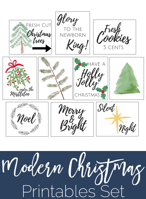 10 pretty modern Christmas Printables all free to download! Check out the cute calligraphy designs and festive printables. Perfect for the Christmas Home!