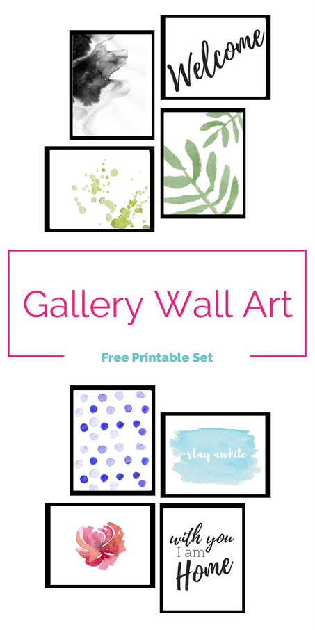 Free set of printable gallery wall art! Check out these pretty designs. I love how colorful and modern they are!