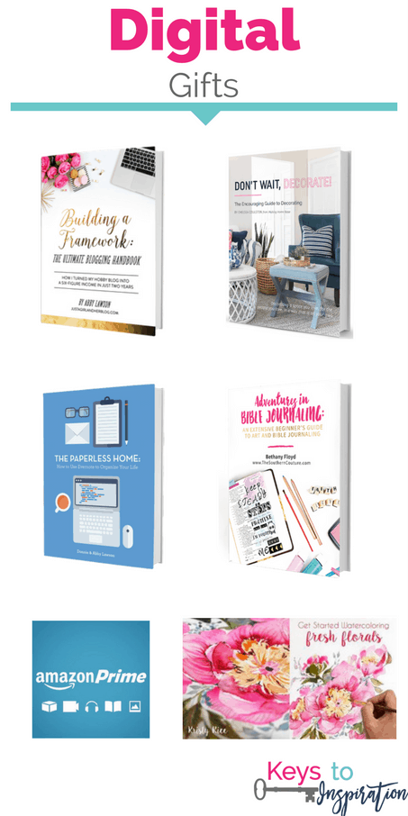 Gift ideas for the last minute shopper. Unique digital gift ideas that are perfect for last minute gifters! These make great Christmas gifts.