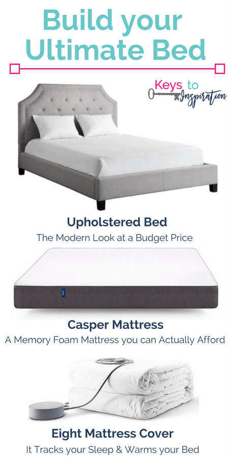 Build your ultimate bed! Create the bed of your dreams for a budget price. Full review of the Casper mattress, the Eight smart mattress cover, and a king size upholstered bed.