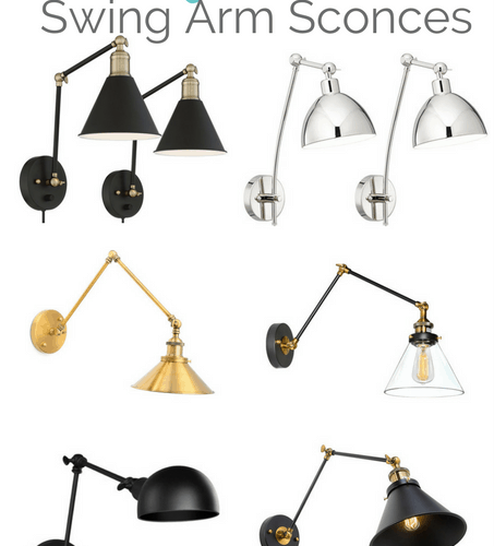 Get the Modern Classic look for less! Modern swing arm sconces at a budget price. All of these are from Amazon!