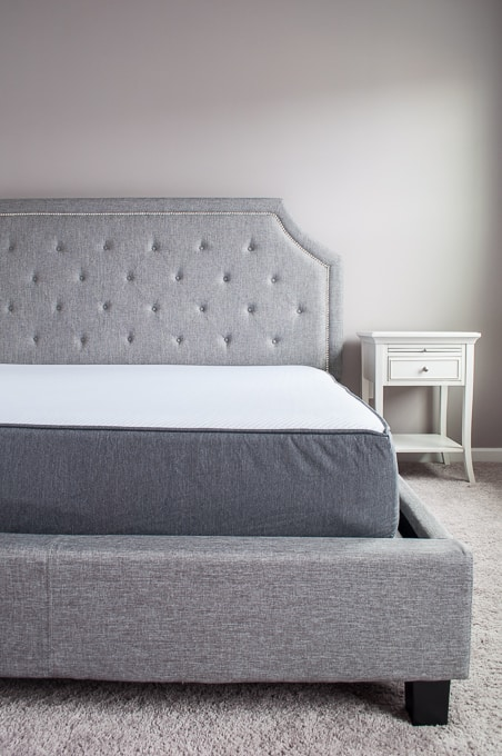 Build your ultimate bed! Create the bed of your dreams for a budget price. Full review of the Casper mattress on a king size upholstered bed.