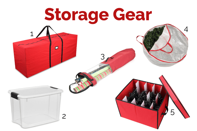 The best storage containers, bins, and supplies for organizing your Christmas decorations.