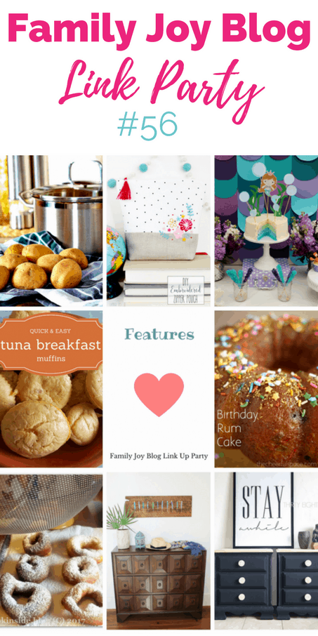 Features from the Family Joy Blog Link Party #56. Great and creative ideas!
