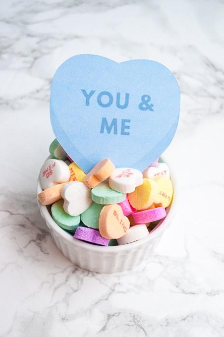 Easy Conversation Heart Valentines using the Cricut Explore