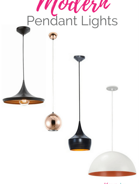 Get the Modern Classic look for less! Affordable Modern Pendant Lights for your kitchen. All of these are from Amazon!