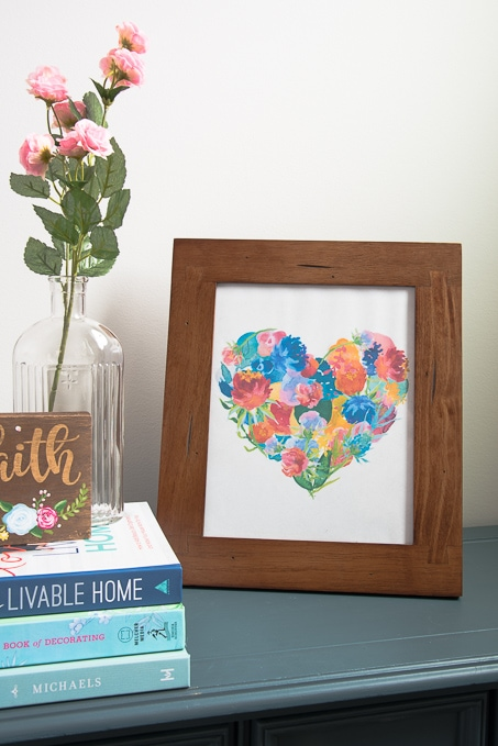 Spring Floral Heart Free Printable