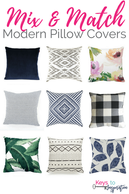 Mix and Match Modern Pillow Covers