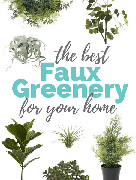 The Best Faux Greenery for your Home - Over 15 artificial plants, greens, wreaths and more! Get the best deal on modern houseplants here.