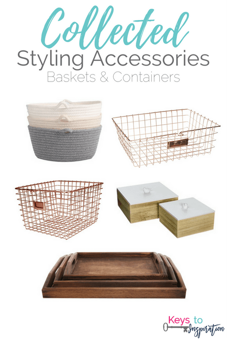 Get the Modern Classic look for less! Collected Styling Accessories - Baskets and Containers for your home. All of these are from Amazon!