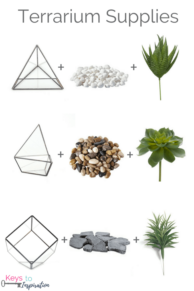 How to Make a Faux Greenery Terrarium. Easy tutorial for a DIY terrarium for your home decor.