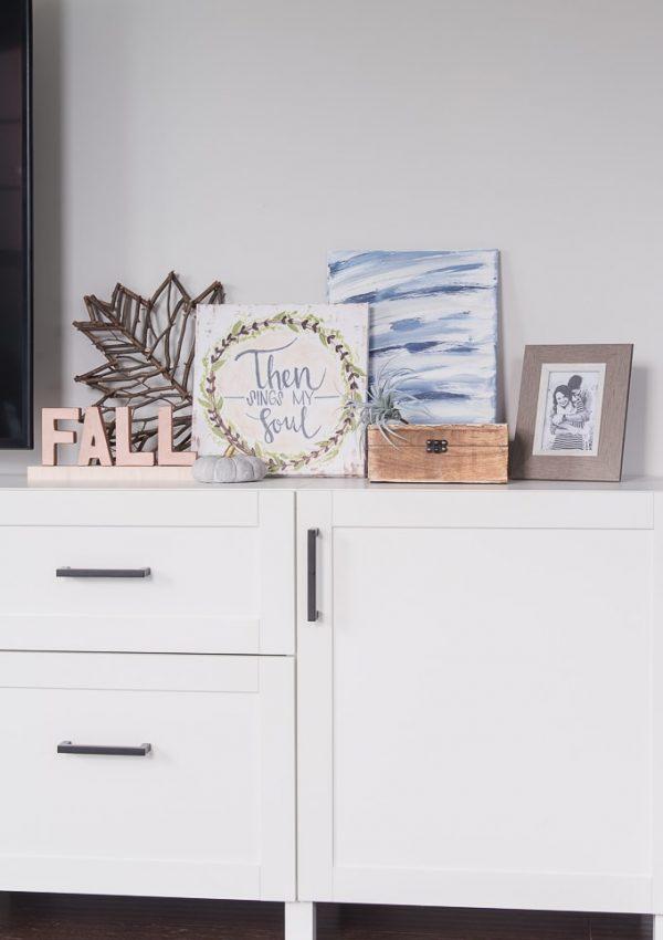 DIY Wood and Metal Fall Sign