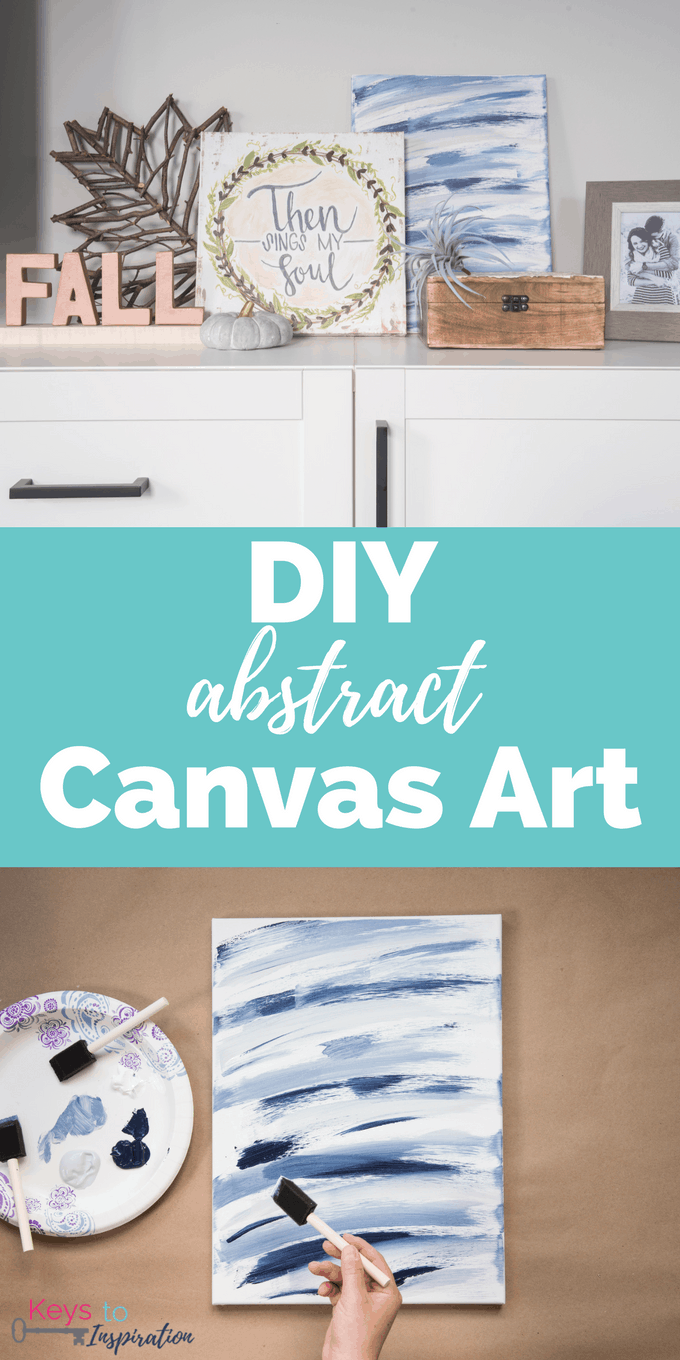Diy Abstract Canvas Art Christene Holder
