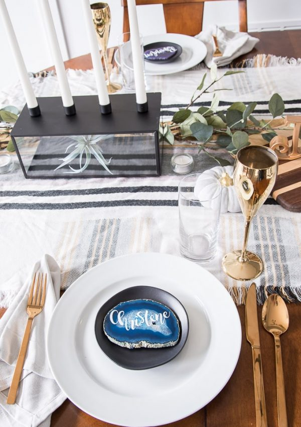 Modern Classic Thanksgiving Table