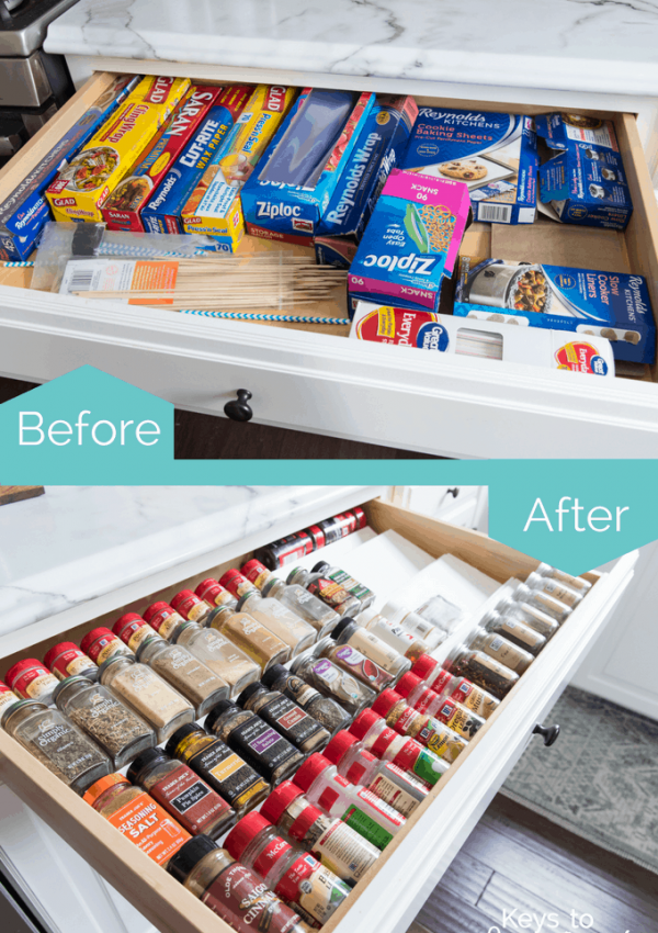 Organized Kitchen Cabinets and Drawers {Part 1}