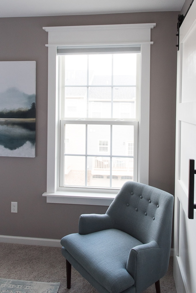 How to install easy craftsman window trim. Full tutorial for adding beautiful trim to the windows in your home. Also, get a free workbook guide to walk you through everything step-by-step.