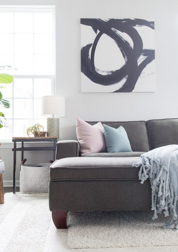 Simple and Bright Spring Living Room Tour