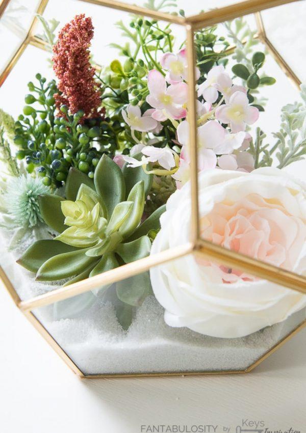 Easy DIY Floral Terrarium