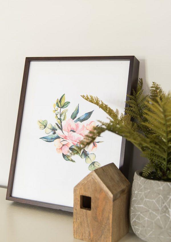 Simple Watercolor Florals Free Printables