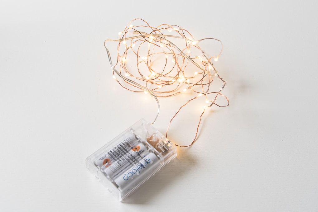 fairy lights strand with a battery pack