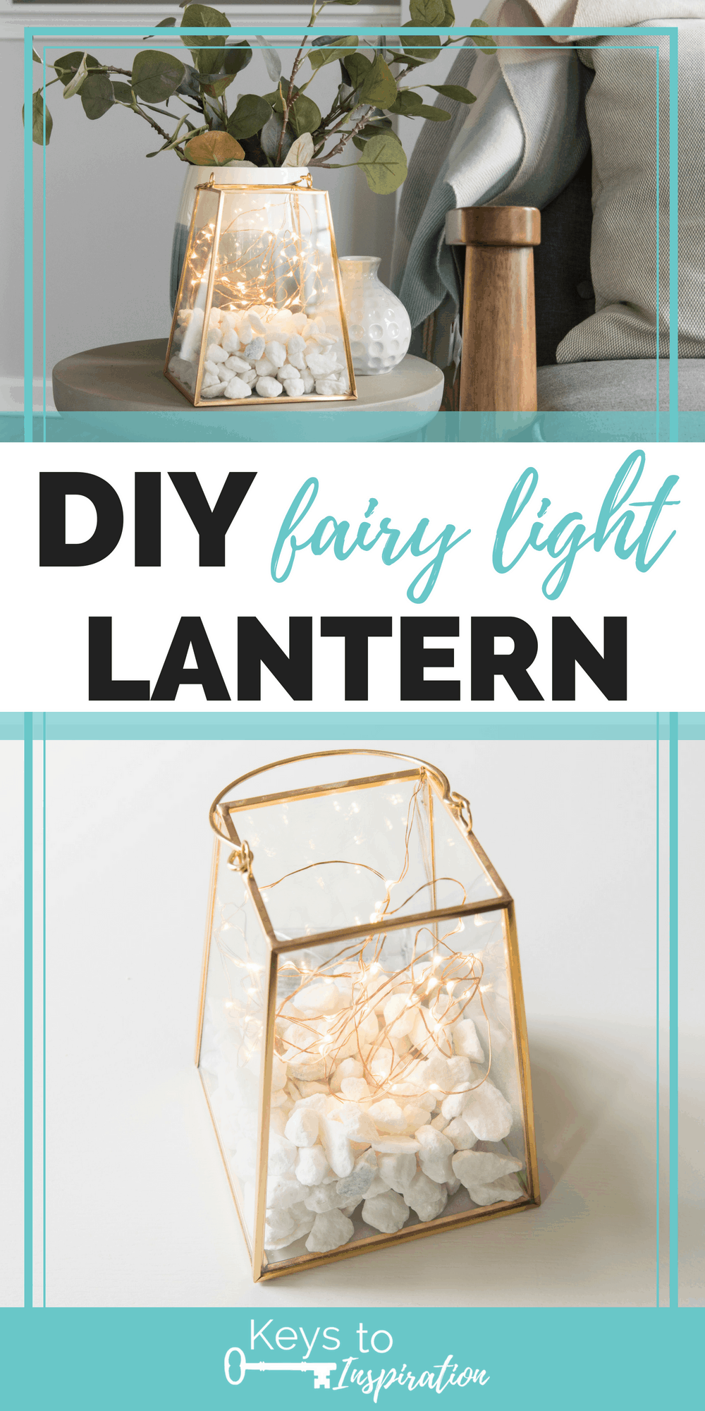 diy fairy light lantern craft tutorial