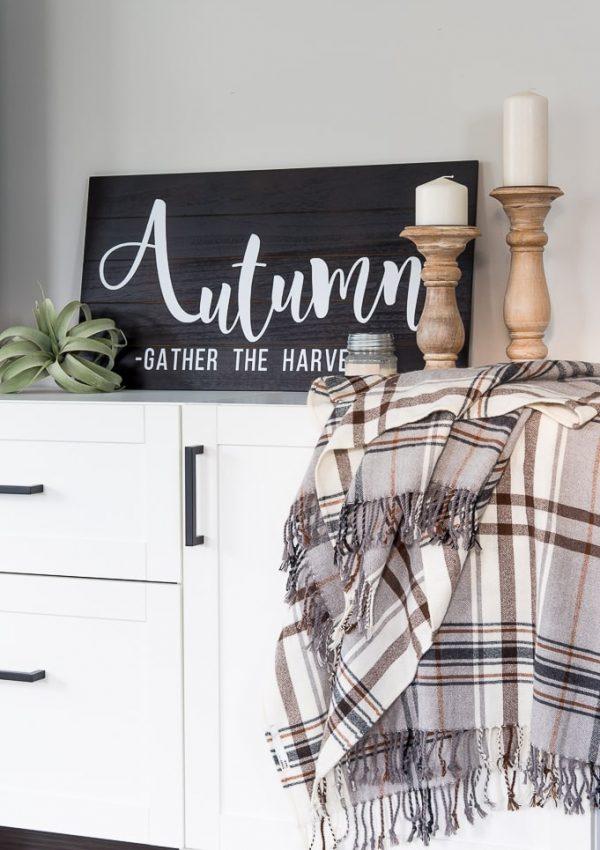 DIY Easy Autumn Wooden Sign
