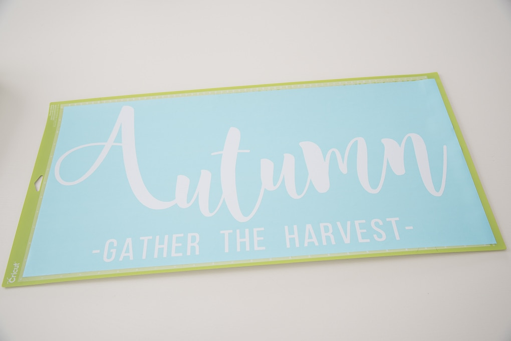 Cricut cutting mat white Autumn design finshed