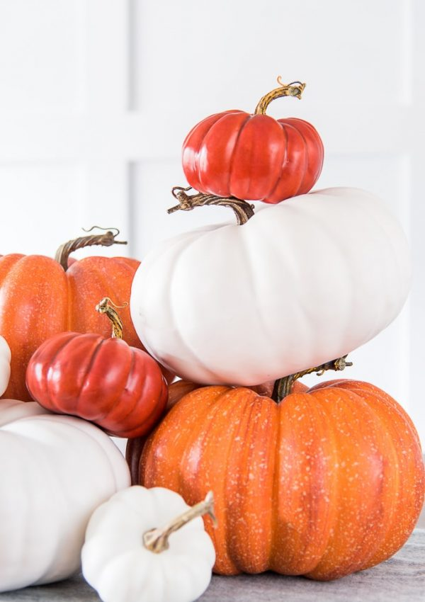 Easy Modern Pumpkin Centerpiece