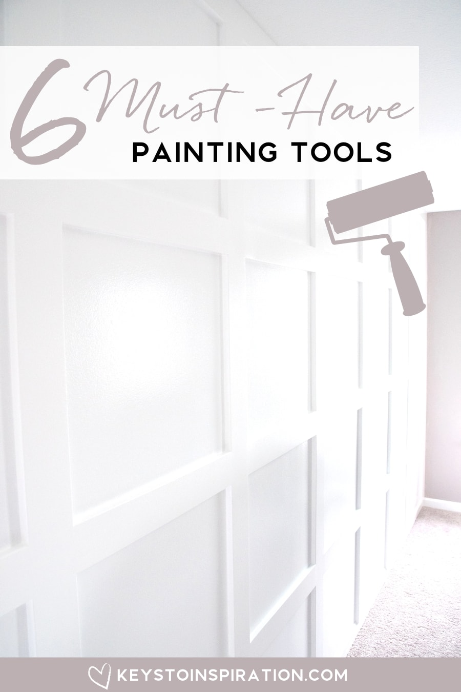 6 Must-Have painting tools white board and batten wall