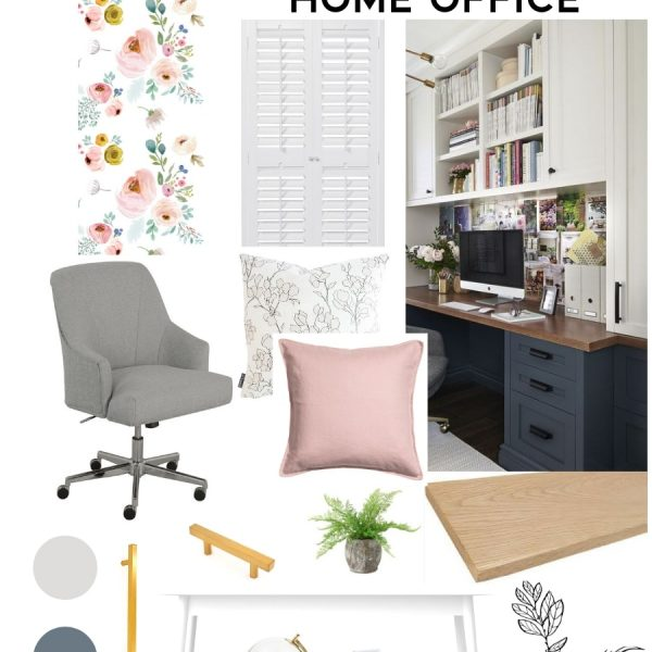 Room design plan for a modern and bright creative home office