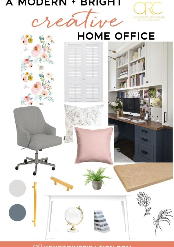 Planning a Modern and Bright Creative Home Office {One Room Challenge Week 1}