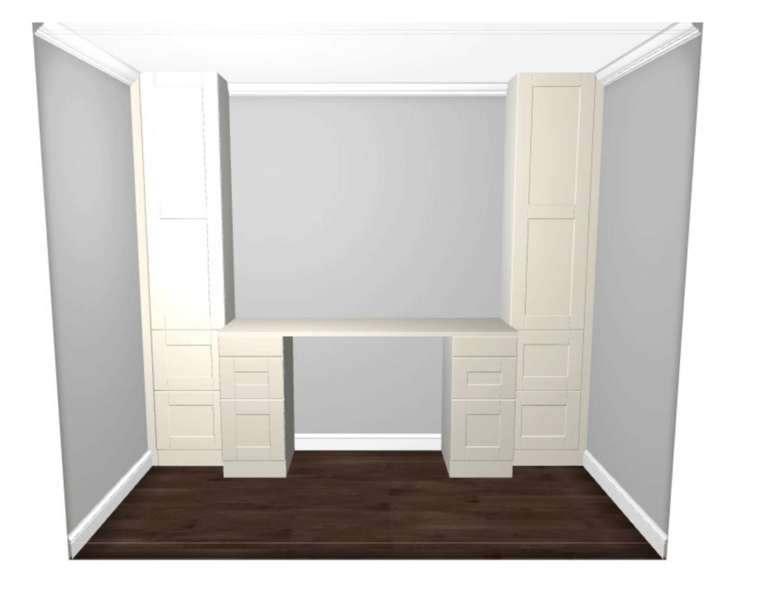 ikea sektion cabinet desk design mockup