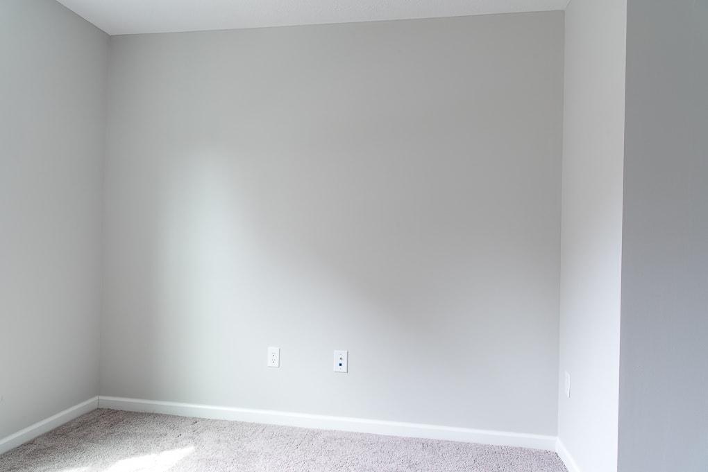 empty room painted valspar tempered gray
