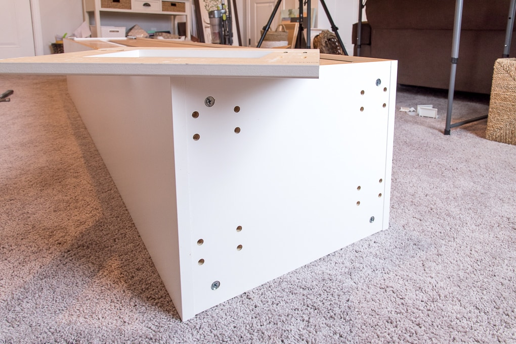 base of an ikea sektion cabinet without legs