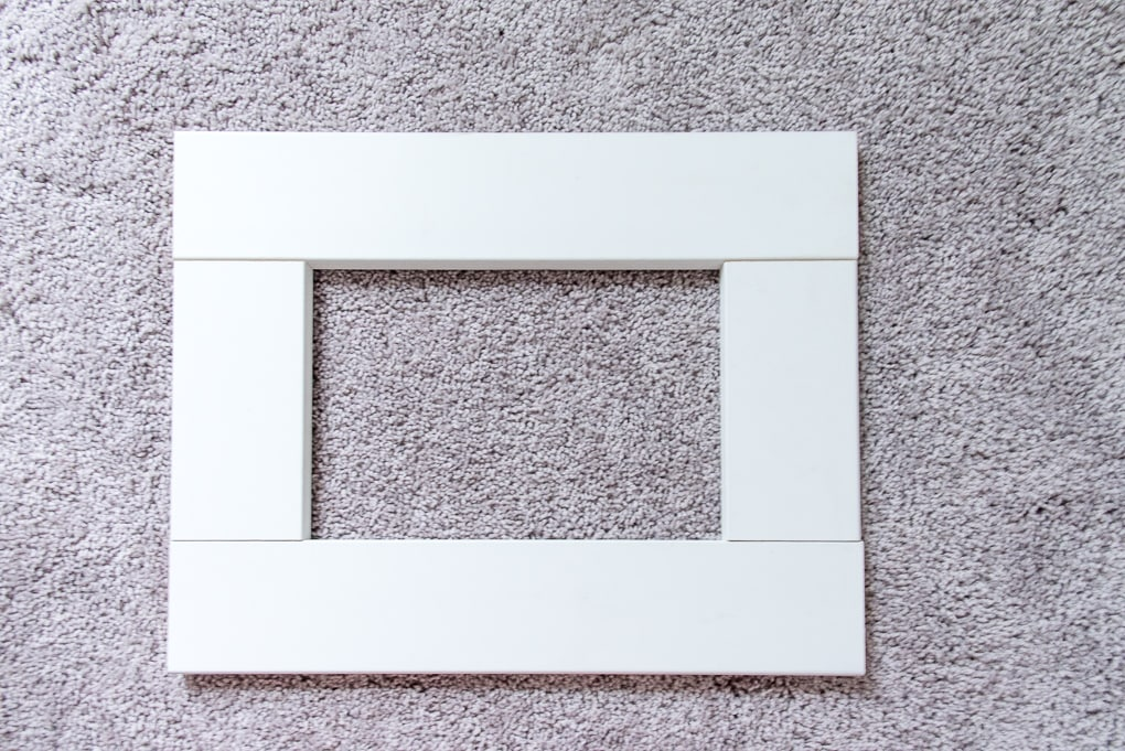 wooden frame for the base of an ikea sektion cabinet