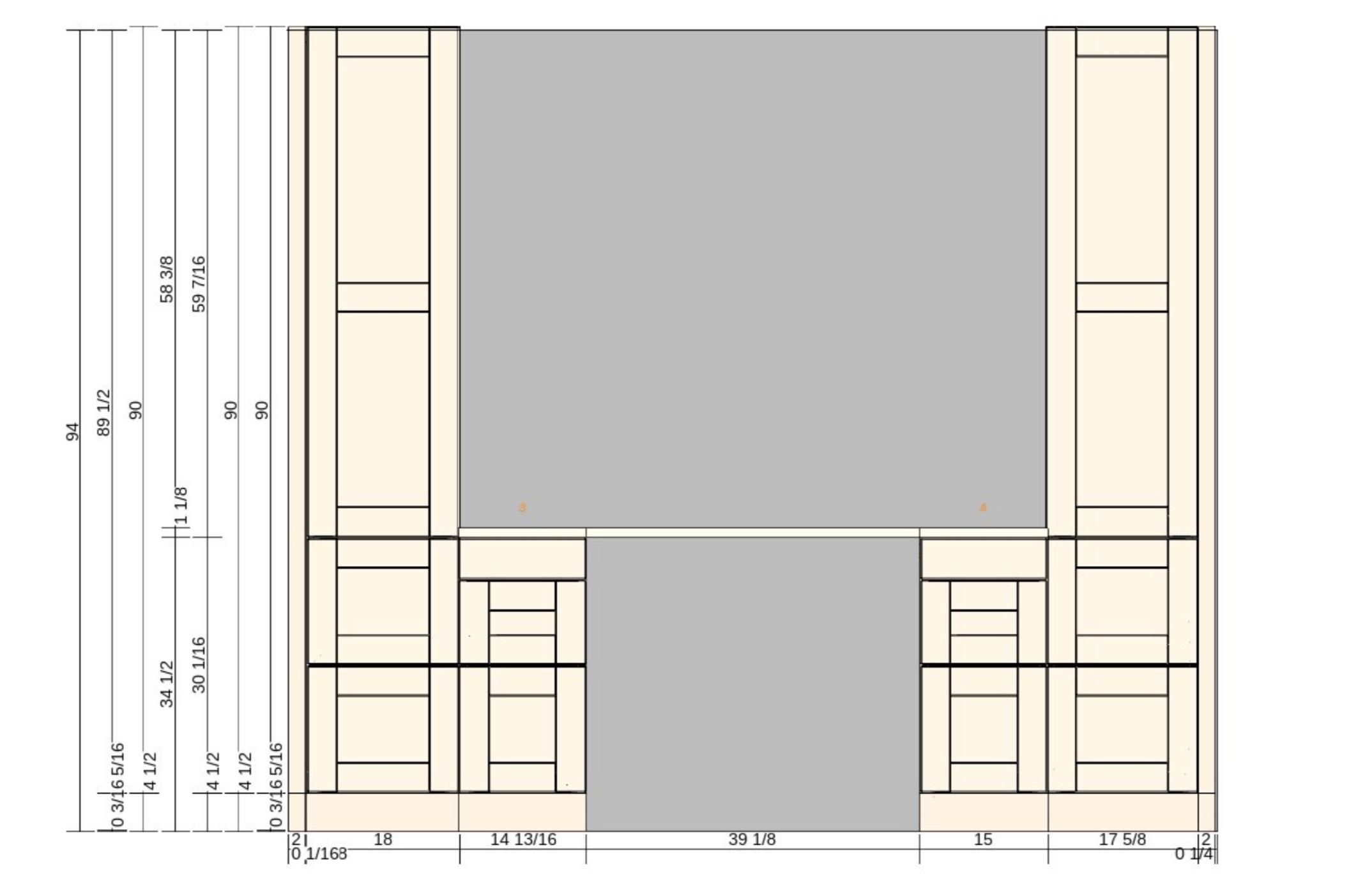 ikea sektion cabinet desk design mockup blueprint