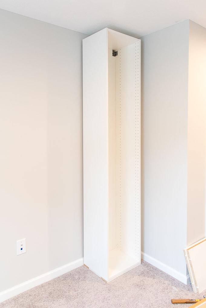 ikea sektion cabinet tall frame white