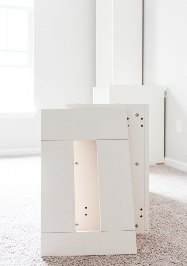 How to Build a Desk using IKEA SEKTION Cabinets {One Room Challenge Week 2}