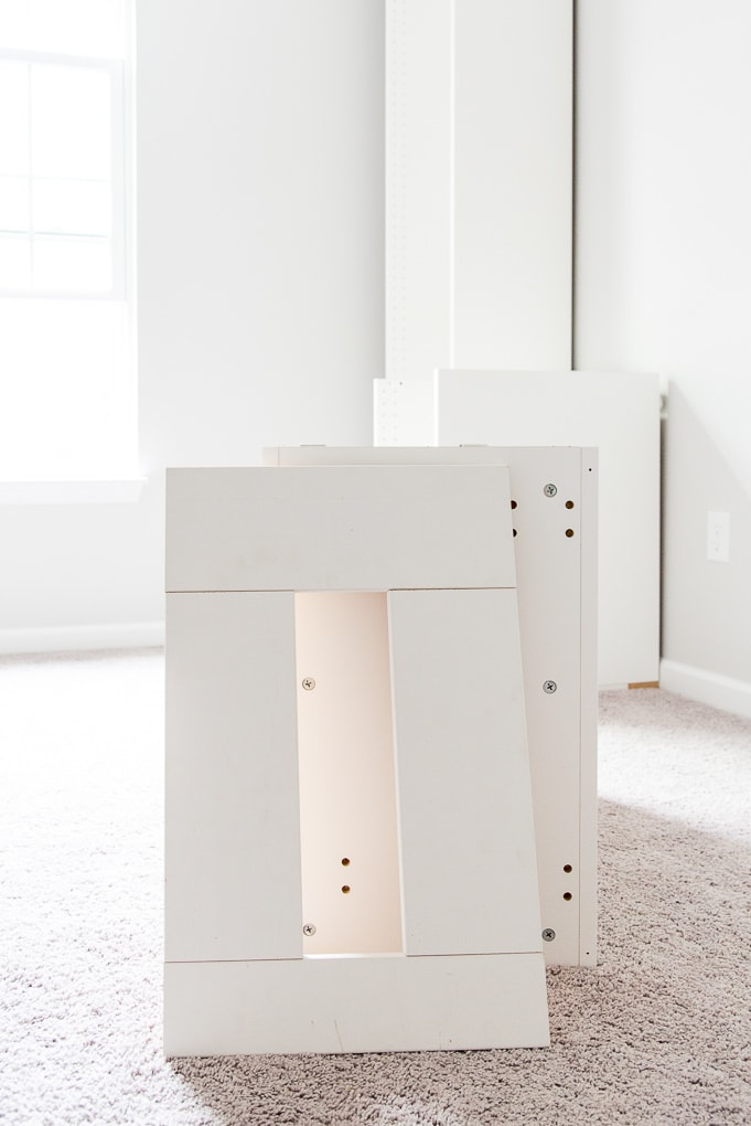 How to Build a Desk using IKEA SEKTION Cabinets {One Room Challenge Week 2} » Christene Holder