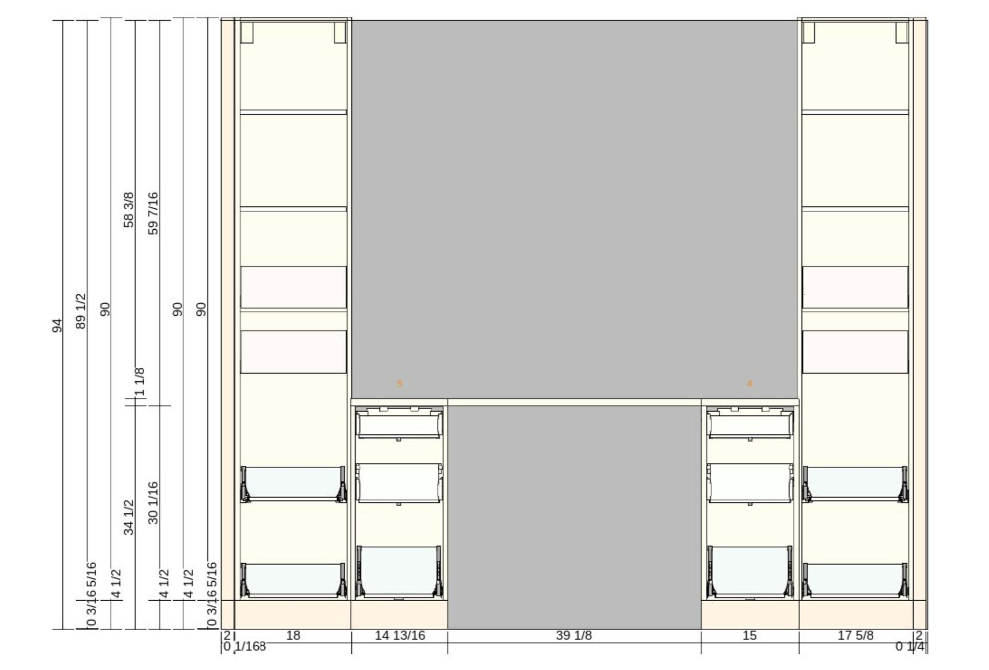ikea sektion cabinet desk design mockup interior drawers
