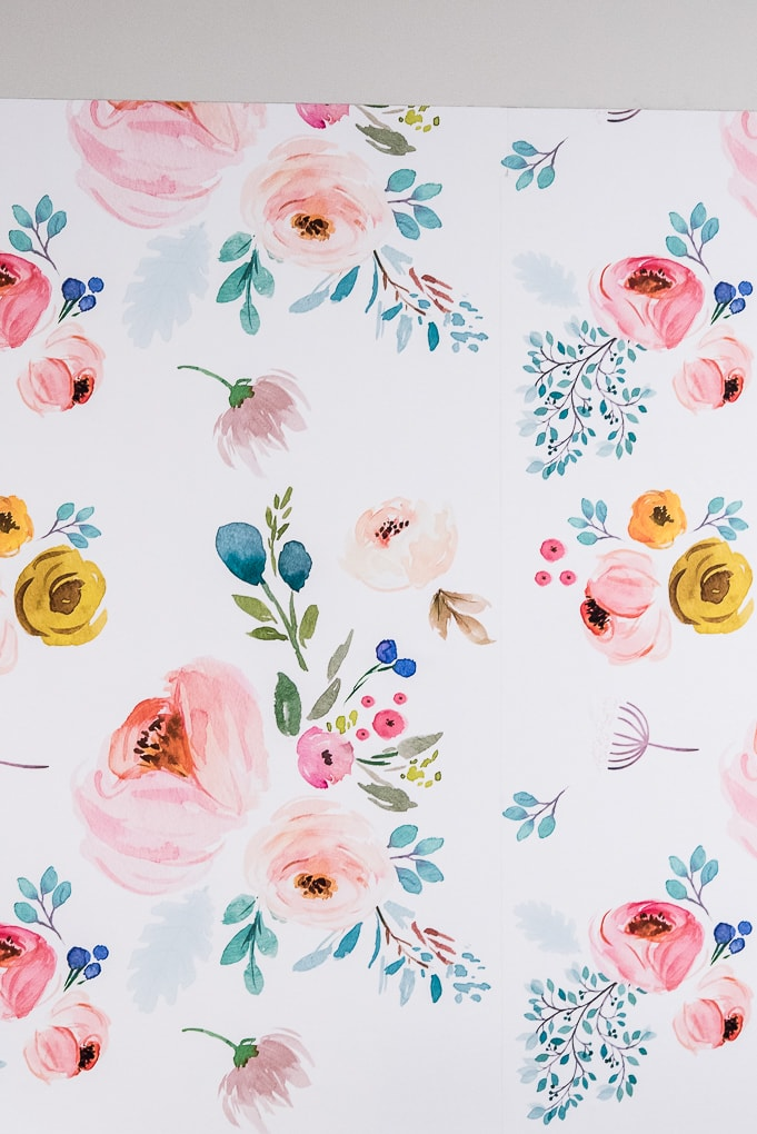 close up of floral spoonflower removable wallpaper