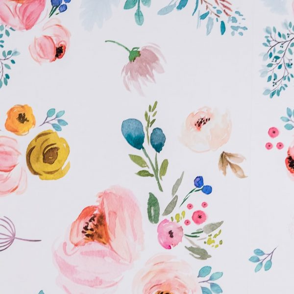 spoonflower floral removable wallpaper