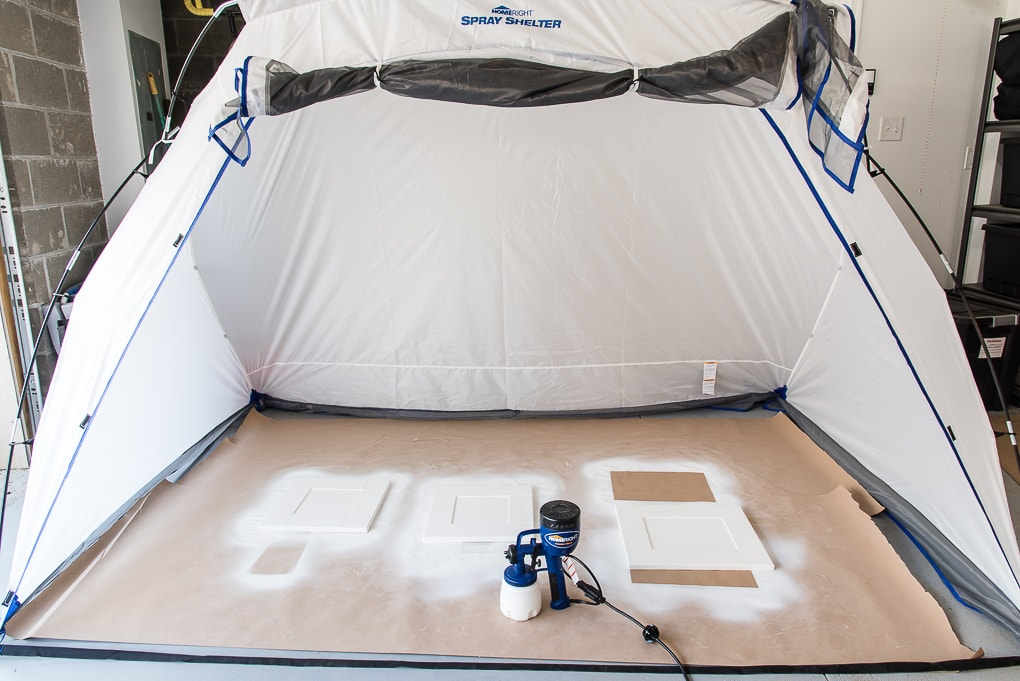 homeright large spray shelter with paint sprayer