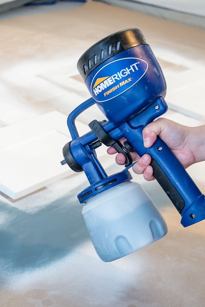 homeright paint sprayer with blue paint