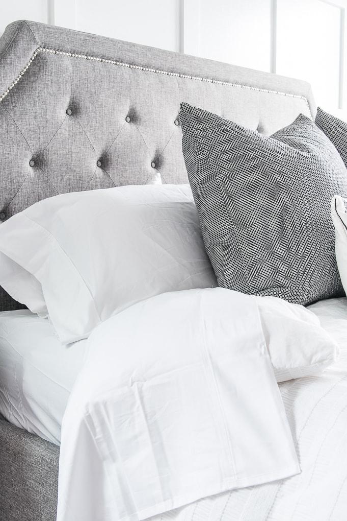California Design Den white sheets bedding